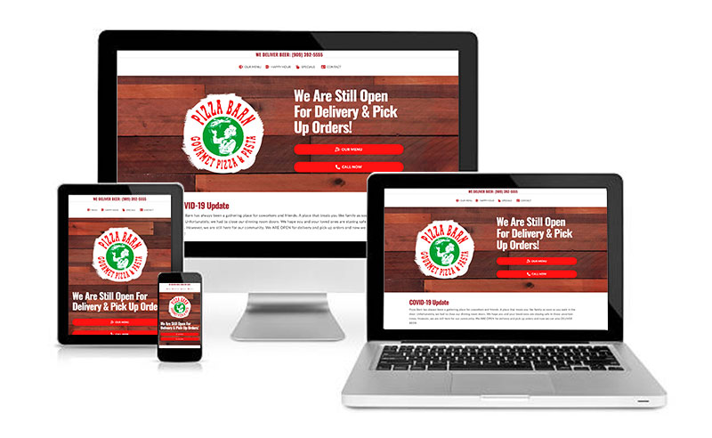 Pizza Barn La Verne Responsive Website